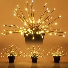 Twinklers Lights Gold Starburst Led Lighted Branches Warm White Twinkle