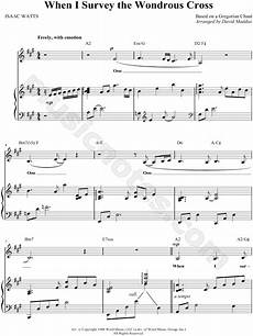 At The Cross Chord Chart Selah Quot When I Survey The Wondrous Cross Quot Sheet Music In A