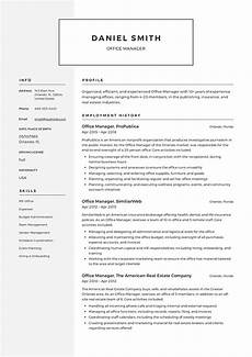 Resume Office Guide Office Manager Resume 12 Samples Pdf 2019