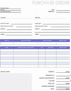 Purchase Order Format In Excel Free Invoices Receipts Pdf Amp Excel Template Hubspot