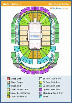 Mn Wild Xcel Seating Chart Xcel Energy Center Seating Chart Pictures Directions