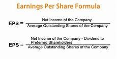 What Is Eps In Stock Chart Earnings Per Share Formula Eps Calculator With Examples