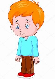 menino triste dos desenhos animados vetores de stock