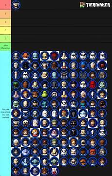 Lego Wars Malvorlagen List I Made A Tier List Of Lego Wars Characters Rebelfriends