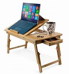 bamboo adjustable laptop stand up to 15 in