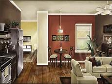 paint colors for open living room and kitchen modern house