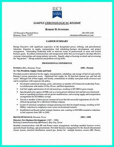 Resume O Chronological Resume Is Needed By People In Making Them
