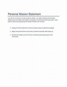 Career Portfolio Mission Statement Example Sample Mission Statement Template Business