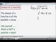 Function Domain Finding Domain Of A Function Examples Youtube