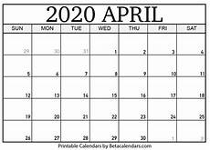 2020 17 Blank Calendar Blank April 2020 Calendar Printable Beta Calendars
