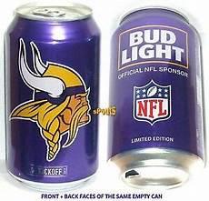 Bud Light Vikings Can 2017 Nfl Kickoff Minnesota Vikings Bud Light Can