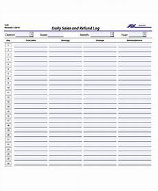 Sales Log Template Free 27 Daily Log Samples Amp Templates In Pdf Ms Word