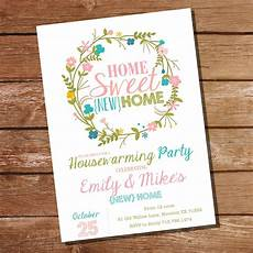Housewarming Party Invitations Floral Housewarming Party Invitation Sunshine Parties