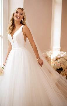 simple wedding dress with v neckline stella york wedding
