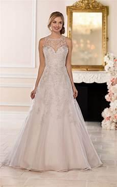 wedding dresses a line halter wedding dress with silver