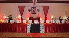 black white and red damask wedding party ideas photo 1