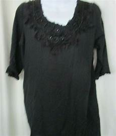 black blouse with beadwork at neckline s size