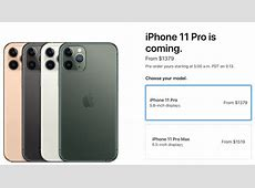 iPhone 11 Pro Pricing in Canada Starts at $1,379   iPhone