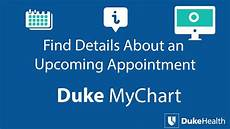 My Duke Chart Org View Upcoming Appointment Details With Duke Mychart Youtube