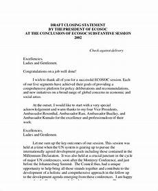Resume Closing Statement Examples Free 7 Sample Closing Statement Templates In Ms Word Pdf