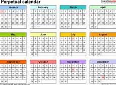 Perpetual Calendar Excel Perpetual Calendar Yangah Solen