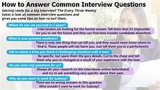 How To Answer Situational Interview Questions How To Answer Common Interview Questions The Every Three