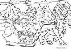 Ausmalbild Weihnachtsmann Mit Schlitten Malvorlage Weihnachtsmann Mit Rentier Weihnachten