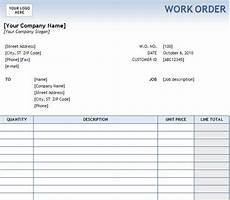 Work Order Format In Word Printable Excel Free Work Order Templates Trainingable