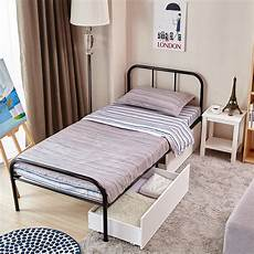 size bed frame with headboard and stable metal slats