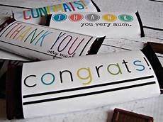 Free Candy Wrapper Template Free Candy Bar Wrapper Thank You And Congrats Printables