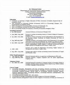 Sample Curriculum Vitae For Accountants 7 Accounting Curriculum Vitae Templates Pdf Doc Free