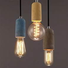 Single Bulb Pendant Light Rustic Concrete Single Exposed Edison Bulb Mini Pendant