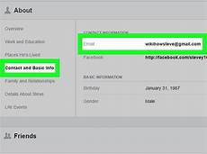 Facebook Address How To Find A User S Email Address On Facebook On A Pc Or Mac