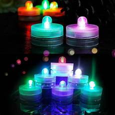 Led Party Table Lights Tea Light Submersible Waterproof Led Decor Floral Lights