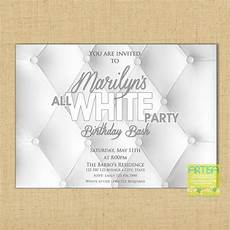 All White Party Invitations Templates All White Party Invitation White Party Invitation Summer