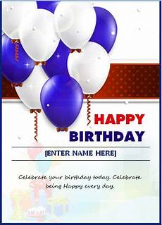 Birthday Card Format For Word Birthday Wishing Card Template Word Amp Excel Templates
