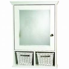 zenith wood medicine cabinet with baskets white walmart