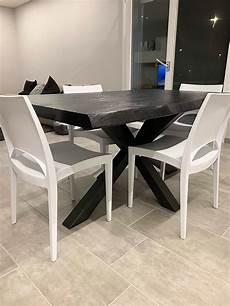 tavolo da cucina in legno tavolo da cucina nero all black in legno massello xlab