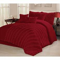 unique home 7 comforter bed in a bag ruffled