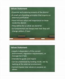 Values Examples Sample Value Statement