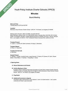 Examples Of Meeting Minutes What Should Your Charter School S Board Meeting Minutes