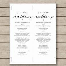 Programme Itinerary Template Wedding Program Template 41 Free Word Pdf Psd