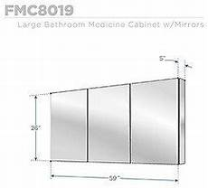 fresca 60 quot wide bathroom medicine cabinet modern