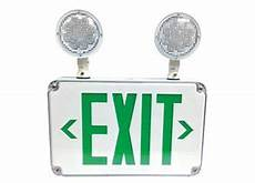 Location Exit Light Combo Slim Design All Led Location Outdoor Exit Signs