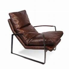 sessel leder braun sessel in patina vintage braun leder und metall sechziger