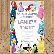 Disney Birthday Invites Personalised Disney Princess Kids Party Birthday