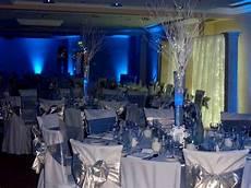 royal blue and silver wedding decoration ideas blue