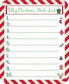 Christmas List Maker Printable Christmas Gift Wish List For Kids Printable