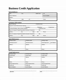 Company Application Form Free 8 Sample Credit Application Forms In Pdf Ms Word
