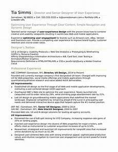Resume Ux Designer Sample Resume For An Experienced Ux Designer Monster Com